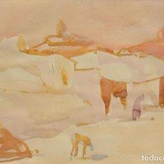 Arte: GIUSEPPE TAMPIERI (FAENZA 1918 – 2014) ACUARELA 34 X 24 CM. FIRMADA.. Lote 269135133