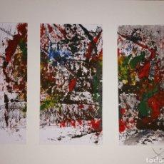 Arte: ABSTRACTO ACUARELA Y TINTA 28X21ORIGINAL. Lote 269162698