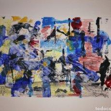 Arte: ACUARELA ORIGINAL ABSTRACTA 28X21. Lote 269173813