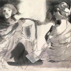 Arte: ROBERT VANDEREYCKEN - TÉCNICA MIXTA SOBRE PAPEL -. Lote 269287168