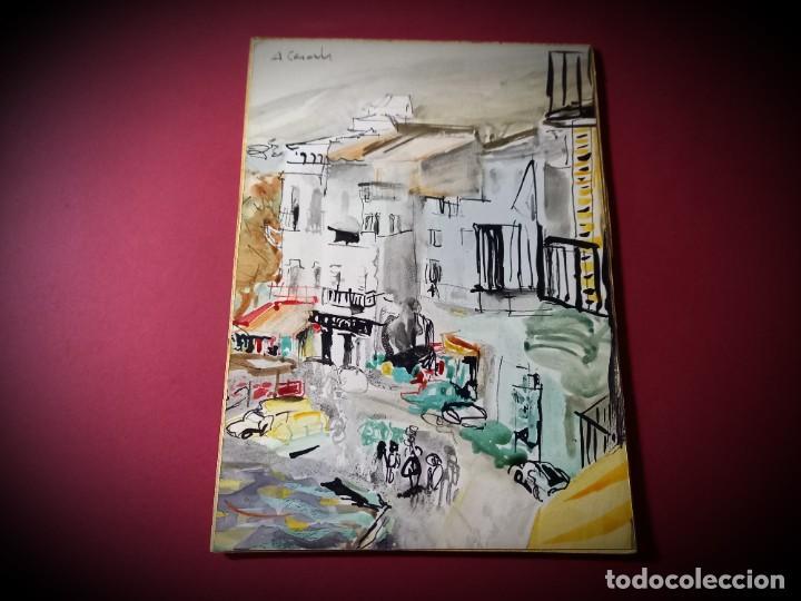 ACUARELA ORIGINAL AMADEU CASALS (Arte - Acuarelas - Contemporáneas siglo XX)