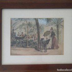 Arte: ATRIBUIDO A JOSÉ NAVARRO LLORENS -EN EL PARQUE-. Lote 269410733