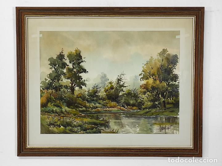 PERE GIRONELL PIERNAU (BORRASSÀ 1904) - ACUARELA - PAISAJE (Arte - Acuarelas - Contemporáneas siglo XX)