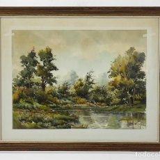Arte: PERE GIRONELL PIERNAU (BORRASSÀ 1904) - ACUARELA - PAISAJE. Lote 269588568