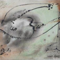 Arte: SERNA RAMOS. TÉCNICA MIXTA SOBRE PAPEL. 1989.. Lote 269772373