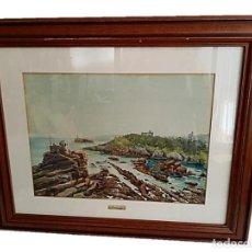 Arte: PINTOR MANUEL BORDALLO (1920-1996), PRECIOSA MARINA 44X32 CM. Lote 269807693