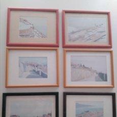 Arte: LOTE DE 6 LÁMINAS ENMARCADAS DEL PINTOR SUIZO MICHEL TENTHOREY. Lote 269821963