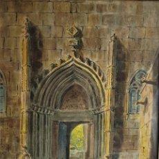 Arte: ENTRADA DE CATEDRAL POR JOSEP CABRÉ I BORRELL (REUS 1890-1988). Lote 269837018