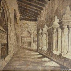 Arte: CLAUSTRO POR JOSEP CABRÉ I BORRELL (REUS 1890-1980). Lote 269837478