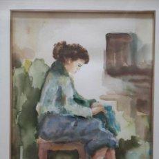 Arte: F. ROIG SEGALÉS ACUARELA SOBRE PAPEL ENMARCADA. Lote 272435603
