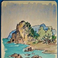 Arte: IBIZA.SAN VICENTE.ACUARELA DE MANUEL NAVARRO LÓPEZ.. Lote 273404158