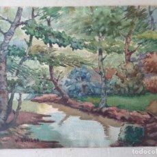Arte: MIGUEL AGUILAR.ACUARELA.CANTONI.MA1. Lote 274011093