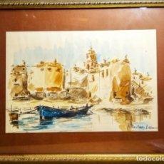 Art: LLANSÁ DEL GRAN ACUARELISTA J. MARTINEZ LOZANO. Lote 274016978