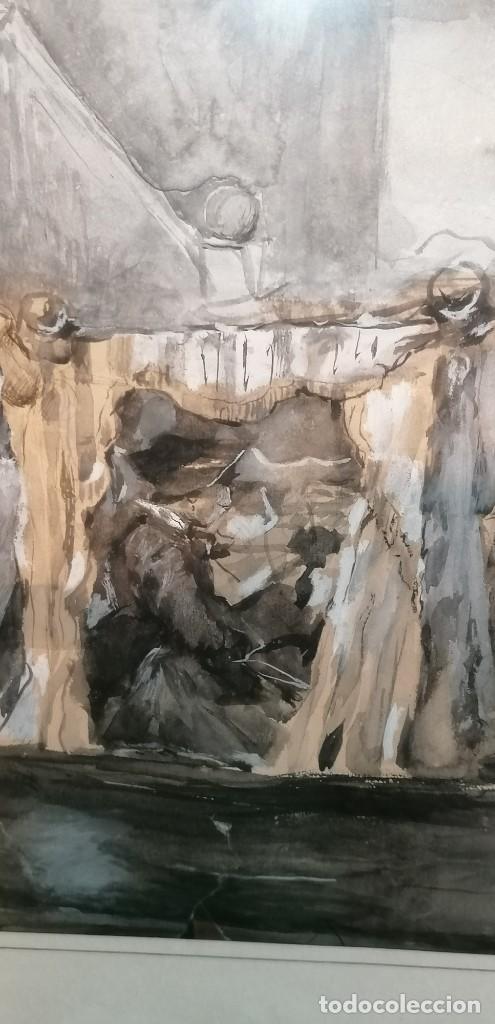 Arte: ACUARELA DE MANUEL DOMÍNGUEZ. PASEO EN GÓNDOLA - Foto 4 - 274816758