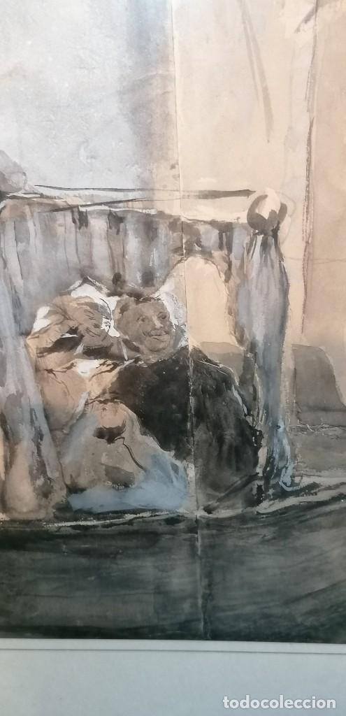 Arte: ACUARELA DE MANUEL DOMÍNGUEZ. PASEO EN GÓNDOLA - Foto 5 - 274816758