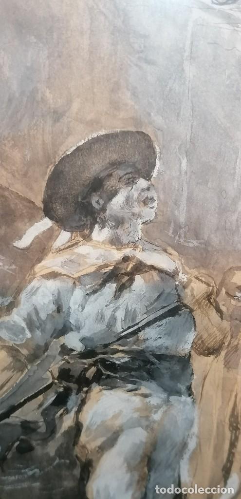 Arte: ACUARELA DE MANUEL DOMÍNGUEZ. PASEO EN GÓNDOLA - Foto 7 - 274816758