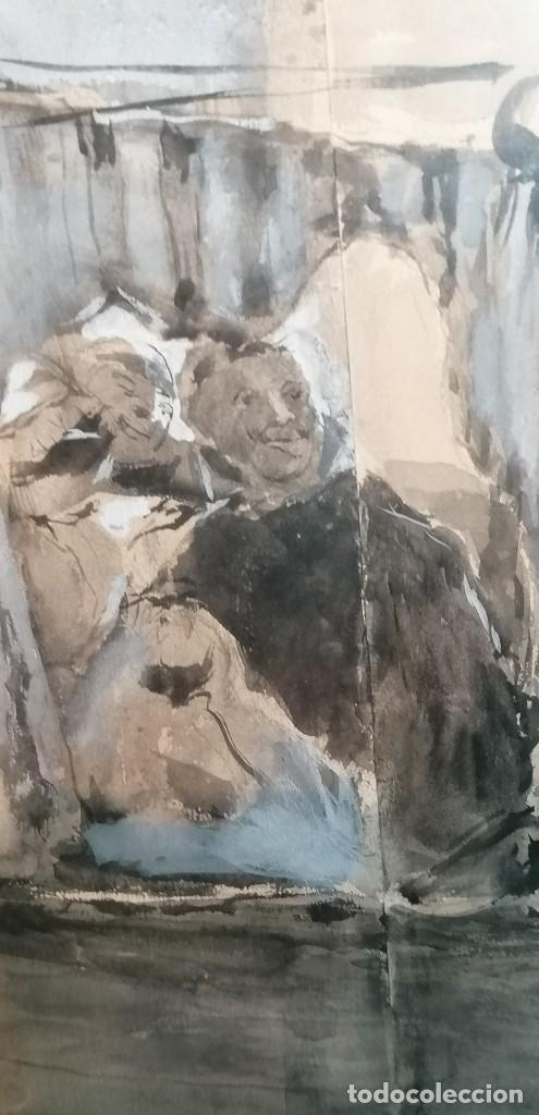 Arte: ACUARELA DE MANUEL DOMÍNGUEZ. PASEO EN GÓNDOLA - Foto 9 - 274816758