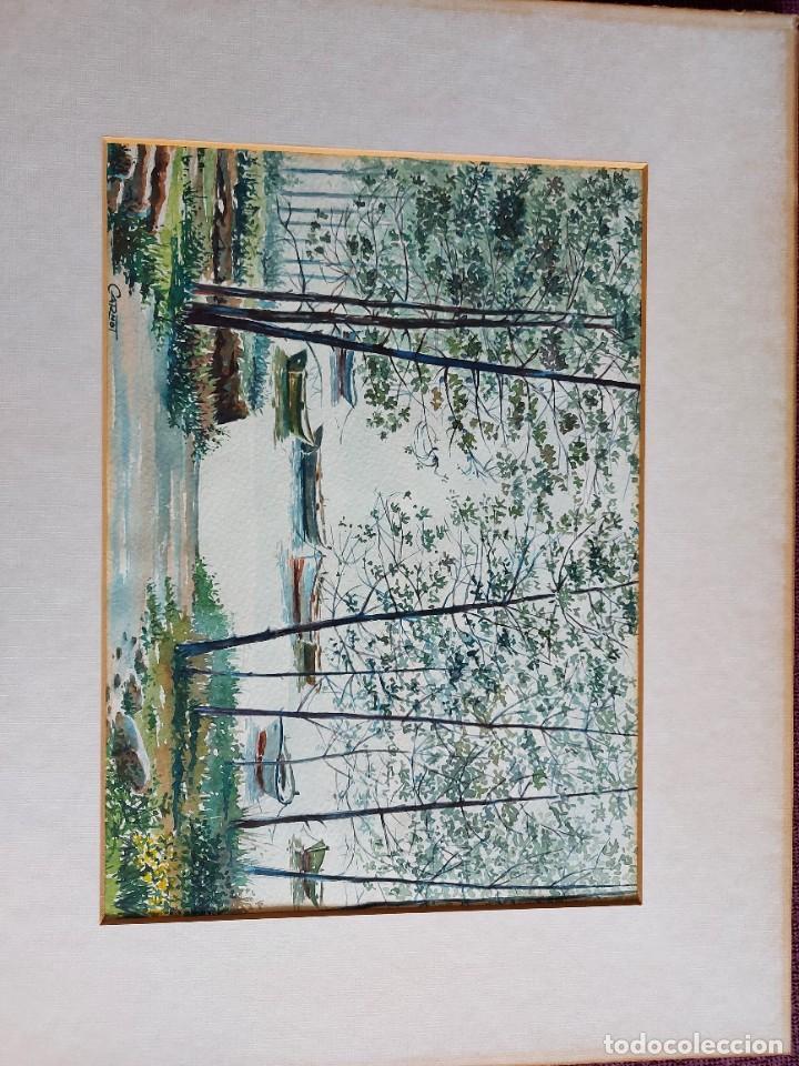 Arte: Acuarela sobre papel de Carnot. - Foto 2 - 274900288