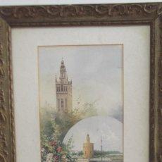 Art: ACUARELA DE SIGLO XIX DEL PINTOR SEVILLANO FRANCISCO CANDELA,SEVILLA. Lote 275271848