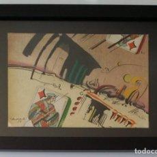 Arte: JAUME GENOVART: COLLAGE Y GOUACHE, FIRMADO Y FECHADO, 1975. Lote 275583223