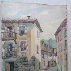 Arte: MIGUEL AGUILAR.ACUARELA.MA 6. Lote 275678923