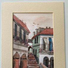 Arte: FRANCISCO MORENO ORTEGA , GOUACHE ORIGINAL , FIRMADO MORENNO , MÁLAGA , ACUARELA. Lote 275697678