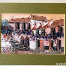 Arte: FRANCISCO MORENO ORTEGA , GOUACHE ORIGINAL , FIRMADO MORENNO , MÁLAGA , ACUARELA. Lote 275697928