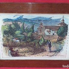 Arte: JOAN COMMELERAN (BARCELONA, 1902 - 1992) ACUARELA NUESTRA SEÑORA DE JERUSALEN - ARTAJONA 1940. Lote 275730908