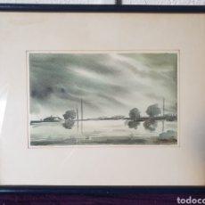 Arte: ANTIGUO CUADRO ACUARELA FIRMADO 1924. Lote 275946983