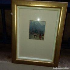 Arte: ANTIGUA ACUARELA AÑOS 90 FIRMADA. Lote 276129103