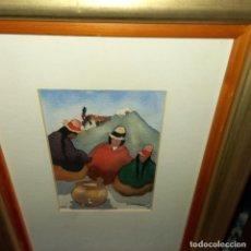 Arte: ANTIGUA ACUARELA AÑOS 90 FIRMADA. Lote 276129603