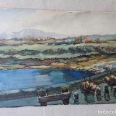 Arte: MIGUEL AGUILAR.ACUARELA.MANLLEU, RIU TER,MA 14. Lote 276270193