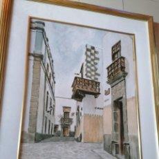 Arte: ACUARELA DE VEGUETA. GRAN CANARIA.. Lote 276404858