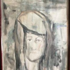 Arte: JOAQUIN DE MOLINA (MORON DE LA FRONTERA 1952-MALAGA 1986). OBRA DEDICADA AL PINTOR PABLO CORONADO. Lote 277120173