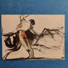 """Arte: MARTINEZ"""" PASE DE TAUROMAQUIA """"APUNTE DEL NATURAL 1963. Lote 277234533"""