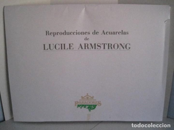 Arte: REPRODUCCIONES DE ACUARELAS LUCILE ARMSTRONG. PARADORES DE TURISMO. FOLKLORE, TRAJES REGIONALES. - Foto 2 - 278194938