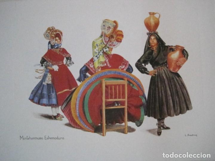 Arte: REPRODUCCIONES DE ACUARELAS LUCILE ARMSTRONG. PARADORES DE TURISMO. FOLKLORE, TRAJES REGIONALES. - Foto 10 - 278194938