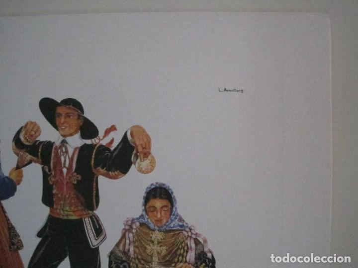 Arte: REPRODUCCIONES DE ACUARELAS LUCILE ARMSTRONG. PARADORES DE TURISMO. FOLKLORE, TRAJES REGIONALES. - Foto 13 - 278194938