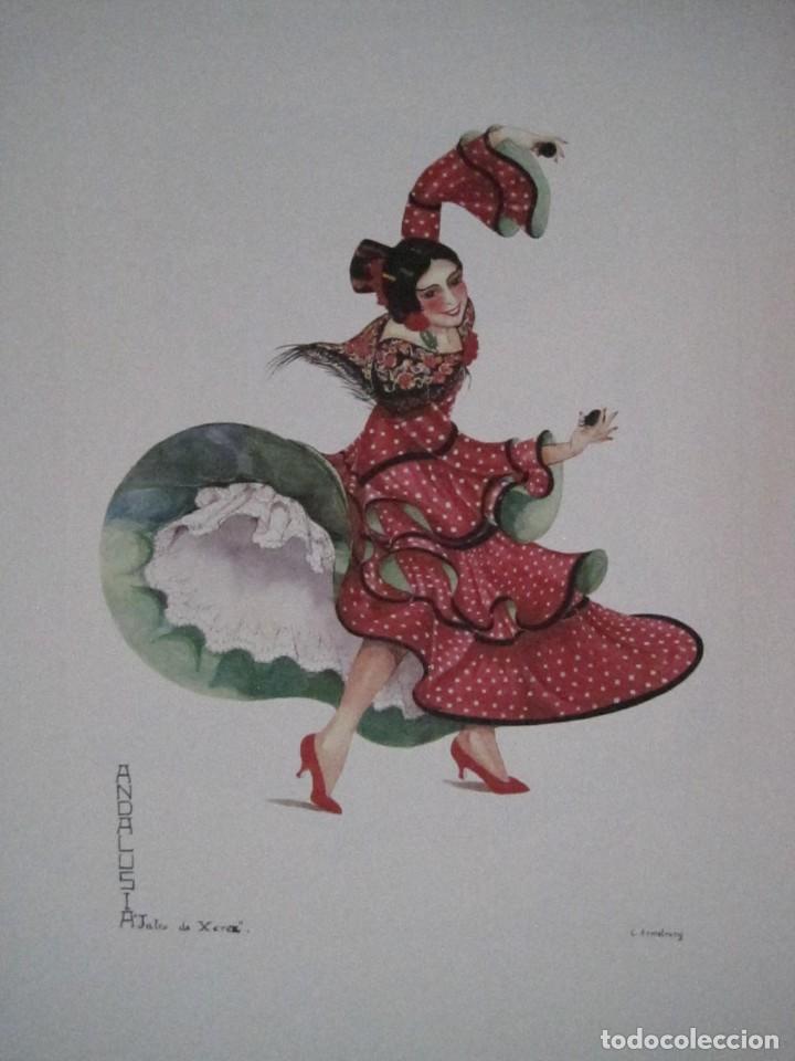 Arte: REPRODUCCIONES DE ACUARELAS LUCILE ARMSTRONG. PARADORES DE TURISMO. FOLKLORE, TRAJES REGIONALES. - Foto 15 - 278194938