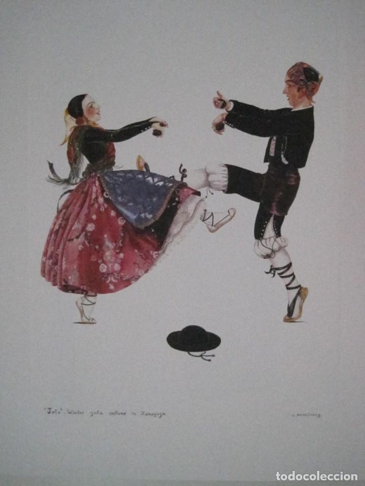 Arte: REPRODUCCIONES DE ACUARELAS LUCILE ARMSTRONG. PARADORES DE TURISMO. FOLKLORE, TRAJES REGIONALES. - Foto 19 - 278194938