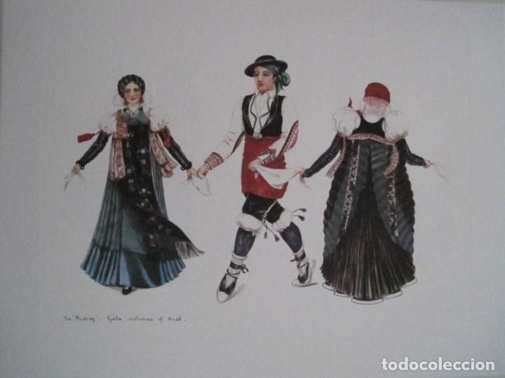 Arte: REPRODUCCIONES DE ACUARELAS LUCILE ARMSTRONG. PARADORES DE TURISMO. FOLKLORE, TRAJES REGIONALES. - Foto 23 - 278194938
