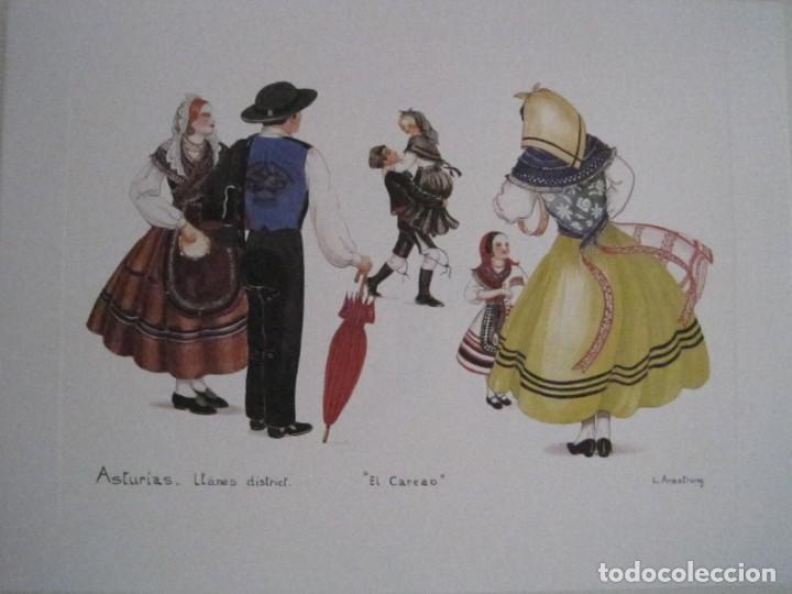 Arte: REPRODUCCIONES DE ACUARELAS LUCILE ARMSTRONG. PARADORES DE TURISMO. FOLKLORE, TRAJES REGIONALES. - Foto 25 - 278194938