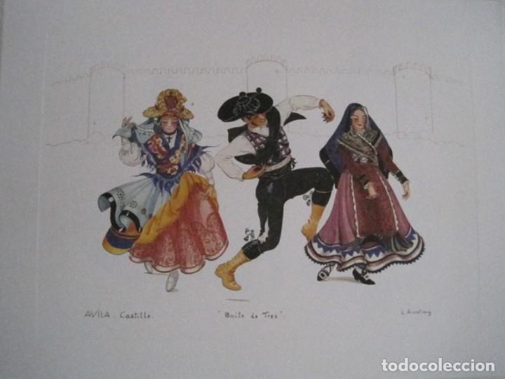 Arte: REPRODUCCIONES DE ACUARELAS LUCILE ARMSTRONG. PARADORES DE TURISMO. FOLKLORE, TRAJES REGIONALES. - Foto 27 - 278194938