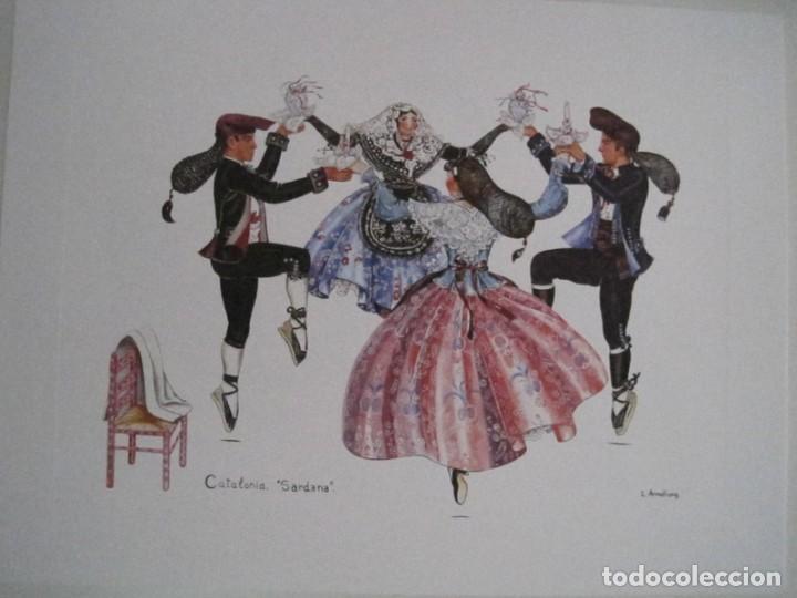 Arte: REPRODUCCIONES DE ACUARELAS LUCILE ARMSTRONG. PARADORES DE TURISMO. FOLKLORE, TRAJES REGIONALES. - Foto 33 - 278194938