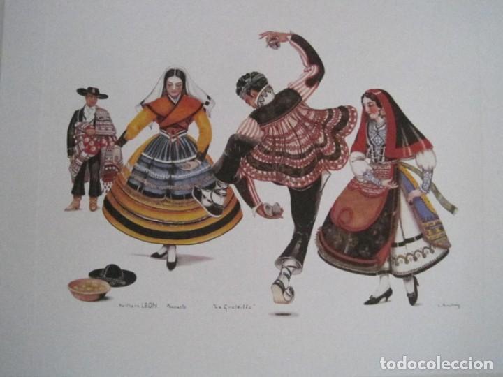 Arte: REPRODUCCIONES DE ACUARELAS LUCILE ARMSTRONG. PARADORES DE TURISMO. FOLKLORE, TRAJES REGIONALES. - Foto 35 - 278194938