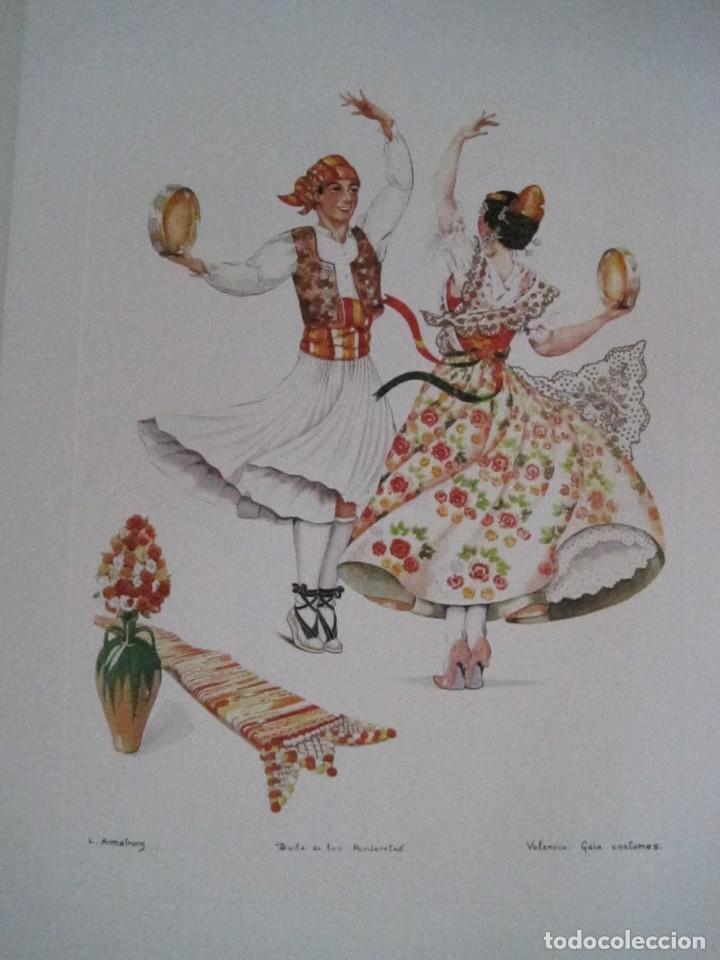 Arte: REPRODUCCIONES DE ACUARELAS LUCILE ARMSTRONG. PARADORES DE TURISMO. FOLKLORE, TRAJES REGIONALES. - Foto 43 - 278194938