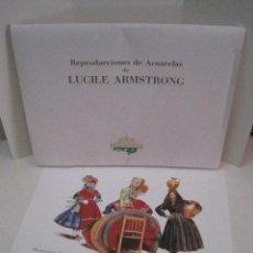 Arte: REPRODUCCIONES DE ACUARELAS LUCILE ARMSTRONG. PARADORES DE TURISMO. FOLKLORE, TRAJES REGIONALES.. Lote 278194938