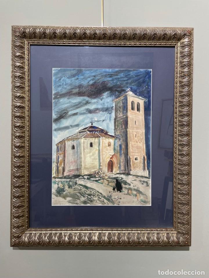 TENREIRO BROCHÓN , ANTONIO (A CORUÑA, 1923 - 2006). SEGOVIA. ACUARELA SOBRE PAPEL. (Arte - Acuarelas - Contemporáneas siglo XX)