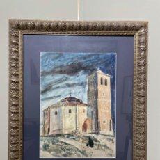 Arte: TENREIRO BROCHÓN , ANTONIO (A CORUÑA, 1923 - 2006). SEGOVIA. ACUARELA SOBRE PAPEL.. Lote 278334823