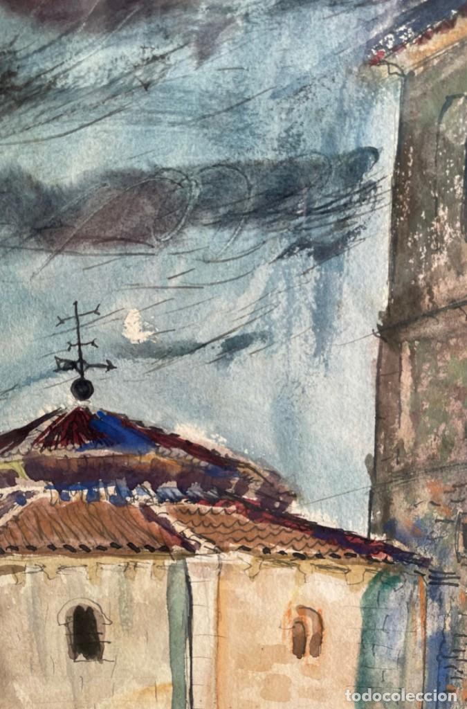 Arte: Tenreiro Brochón , Antonio (A Coruña, 1923 - 2006). Segovia. Acuarela sobre papel. - Foto 3 - 278334823